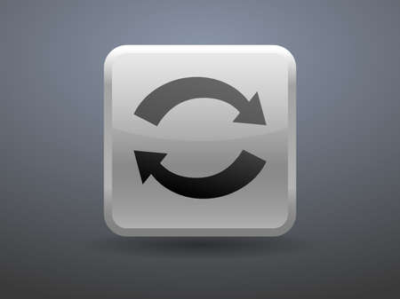 cyclic: 3d glossiness button icon of cyclic