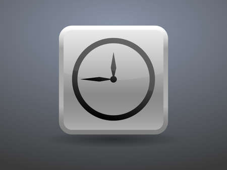 glossiness: 3d glossiness button icon of clock