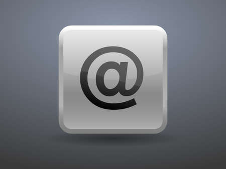 glossiness: 3d glossiness button icon of email Illustration
