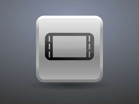 glossiness: 3d glossiness button icon of gamepad Illustration