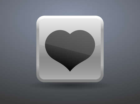 glossiness: 3d glossiness button icon of heart