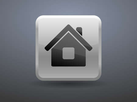glossiness: 3d glossiness button icon of home Illustration