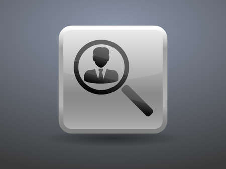 glossiness: 3d glossiness button contact icon
