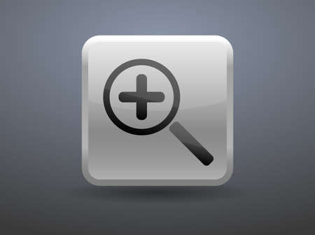 glossiness: 3d glossiness button Zoom  icon
