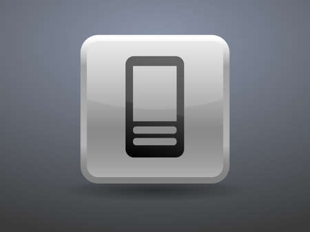 glossiness: 3d glossiness button icon of cellphone Illustration