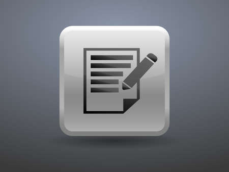 glossiness: 3d glossiness button icon of notes Illustration