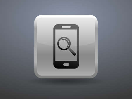 glossiness: 3d glossiness button mobile search