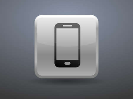 glossiness: 3d glossiness button icon of smartphone Illustration