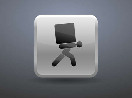 glossiness: 3d glossiness button icon of dilivery