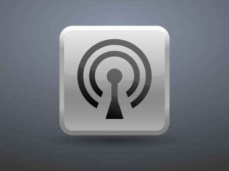 glossiness: 3d glossiness button icon of wifi