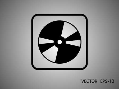 cdr: Flat  icon of DVD disc Illustration