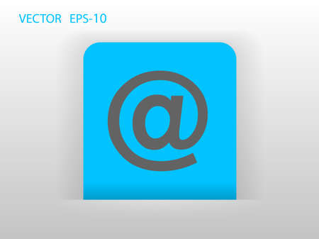 Flat icon of email Vector