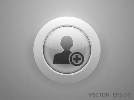 add: Flat icon of add friend