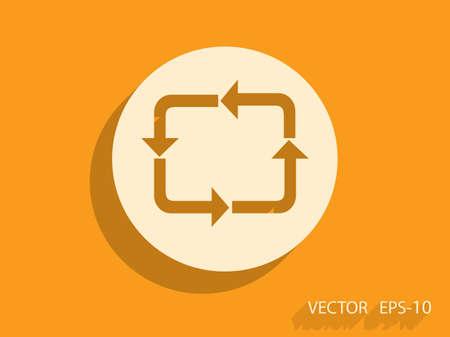 circulation: Flat icon of circulation sign