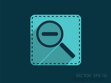 zoom out: Zoom out icon Illustration