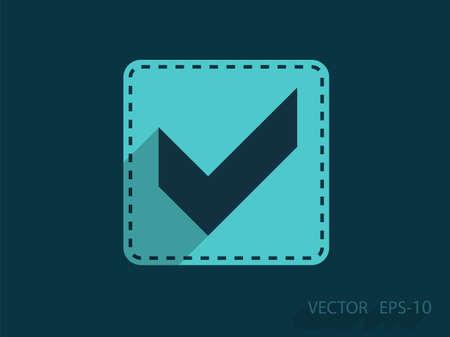 Flat icon of check box Illustration
