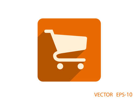 shopping chart: Flat icon of shopping chart Illustration