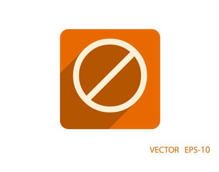 interdiction: Icone plat d'une interdiction