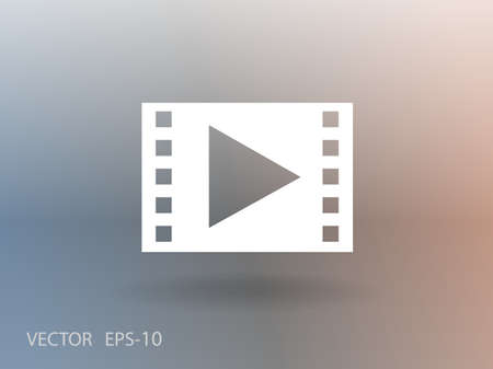 video: Flat icon of video