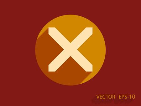 restrictive: Flat  icon of prohibit