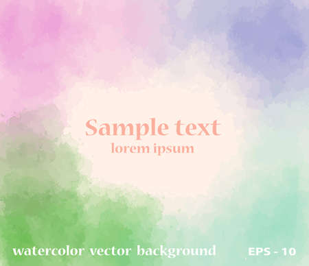 background design: Vector watercolored style abstract  background