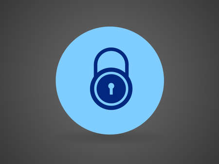 forbidden to pass: Flat icon of lock