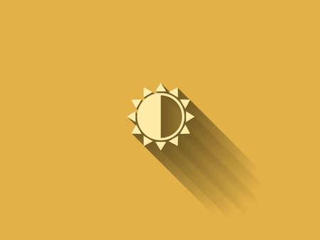 brightness: long shadow Brightness icon