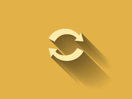 cyclic: long shadow Flat icon of cyclic