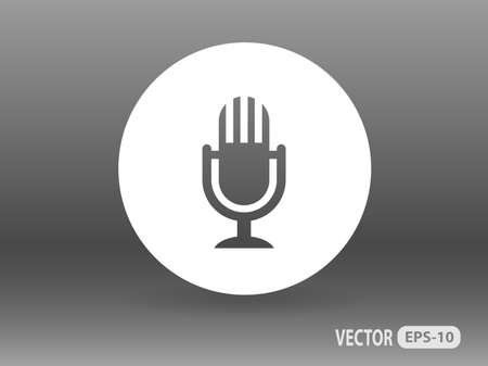 microphone: Flat  icon of microphone Illustration
