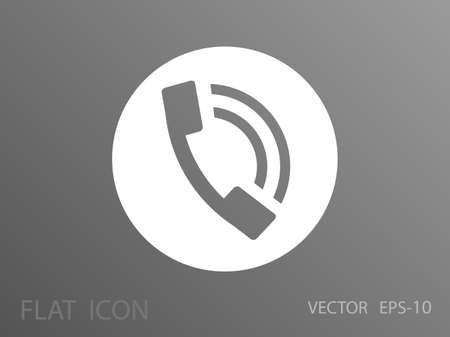 old telephone: Flat icon of a phone