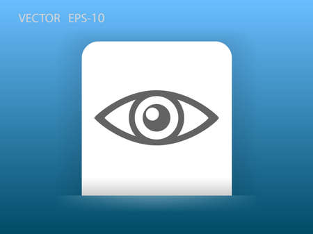 supervisi�n: Icono plano de la supervisi�n