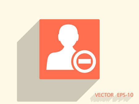 Remove contact icon Illustration