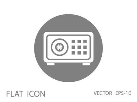 dial lock: Flat icon of safety box