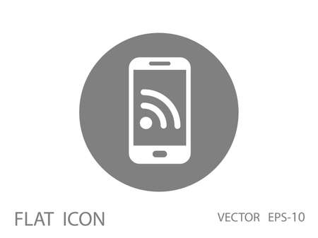 RSS mobile icon Vector