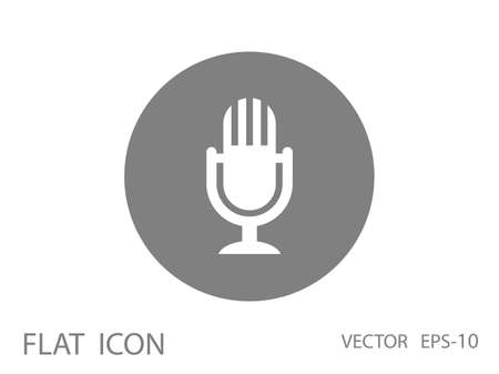 Flat  icon of microphone Ilustrace