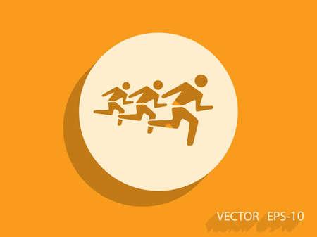 mans: Flat icon of running mans