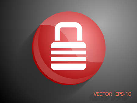 coded: Flat icon of lock