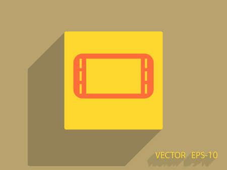 joy pad: Flat icon of gamepad