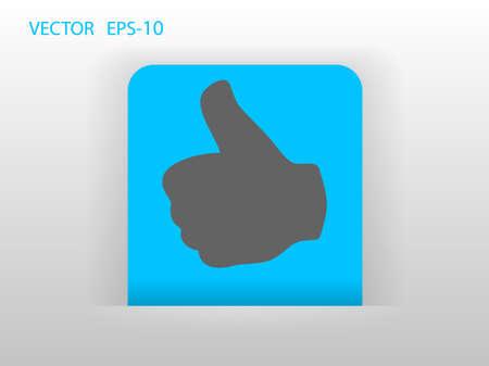 Flat icon of ok