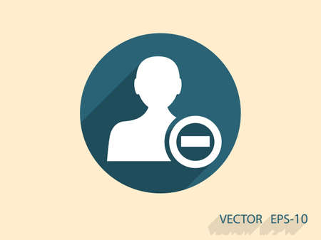 contact icon: Remove contact icon Stock Illustratie