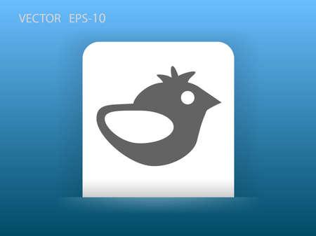 tweet icon: Flat icon of bird