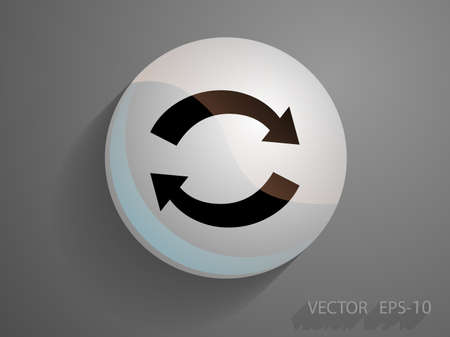 cyclic: Flat icon of cyclic Vettoriali