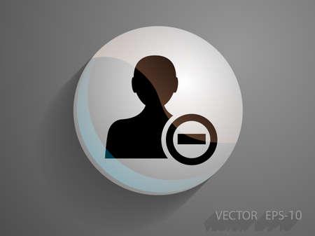 remove: Remove contact icon Illustration