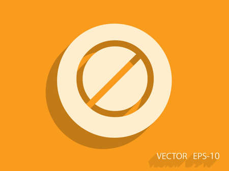 restrictive: Flat icon of a prohibition Illustration