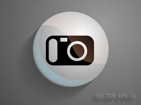 snapshot: Flat icon of a camera