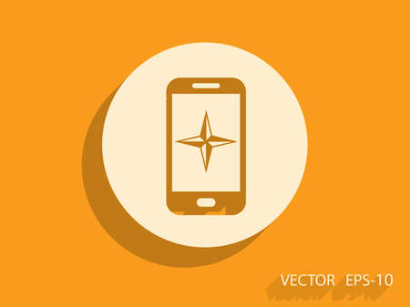 smartphone: Flat icon of smartphone Illustration