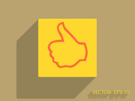 validate: Flat icon of ok