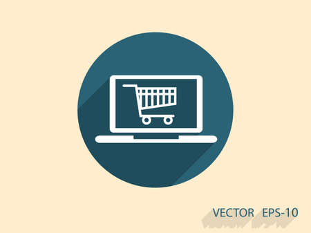 retail display: Online shopping icon