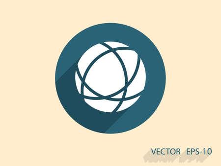 globo terraqueo: Icono plano de globo