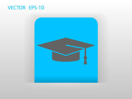 master degree: Flat  icon of graduate
